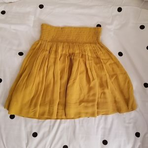 Banana Republic Yellow Mini Skirt